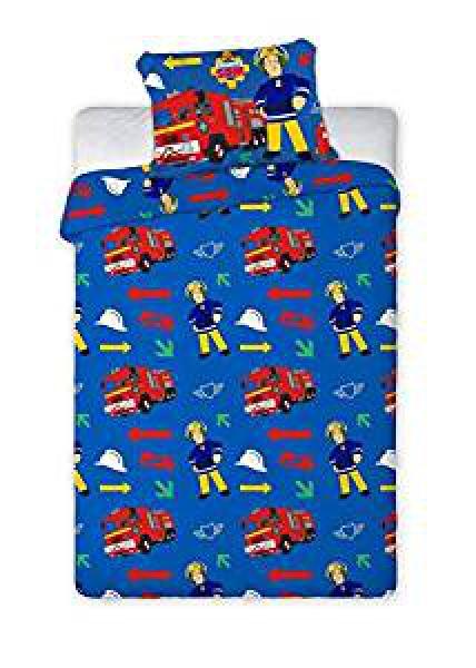 Firemansam Rotary Double Bed Duvet Quilt Cover Set