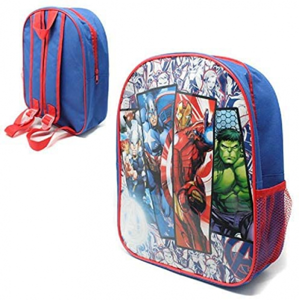 Avengers Superhero with Mesh Side Pocket School Bag Rucksack Backpack