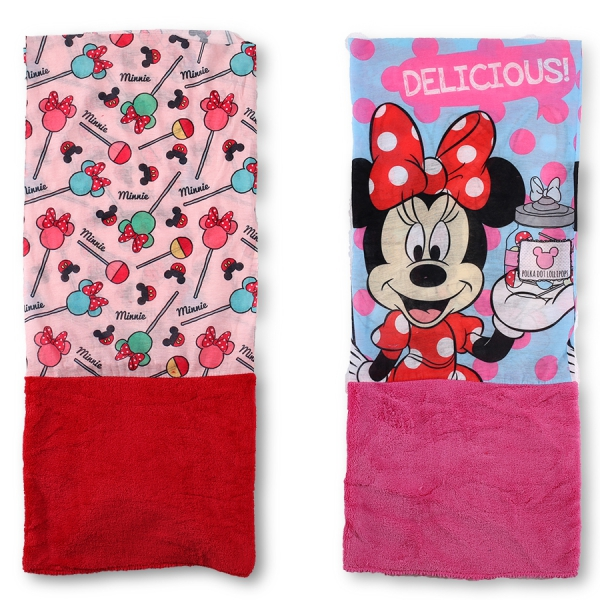 Disney Minnie Mouse 'Snood' Red, Pink Assorted Multi Purpose Scarf