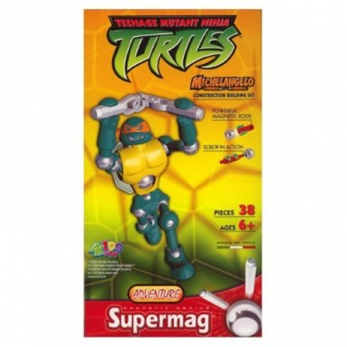 Supermag Teenage Mutant Ninja Turtles 'Michelangelo' 12.5 inch Construction Building Figure Toy