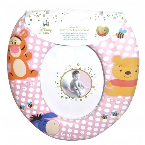 Disney Winnie The Pooh 'Pink' Kids Padded Toilet Seat Soft Potty Training Bath