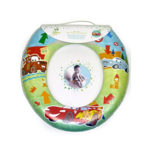 Disney Cars Kids Padded Toilet Seat Soft Potty Training Bath