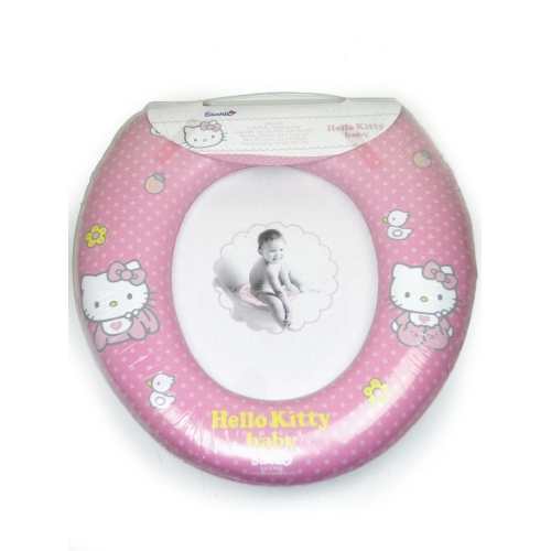 'Hello Kitty Baby' Kids Padded Toilet Seat Soft Potty Training Bath