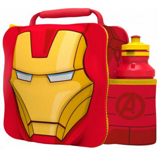 Avengers 'Iron Man' 3d Lunch Bag with Bottle Box