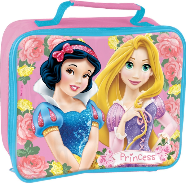 Disney Princess 'Floral' Rectangular Insulated School Premium Lunch Bag
