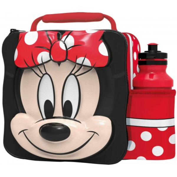 Disney Minnie Mouse 3d Lunch Bag with Bottle Box