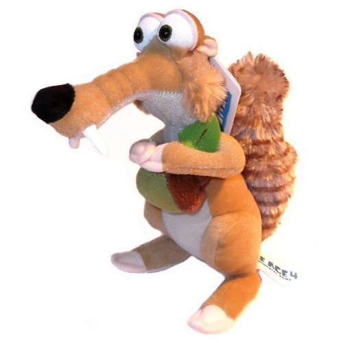 Ice Age 4 'Scrat The Squirrel Hugging Acorn' 11 inch Plush Soft Toy