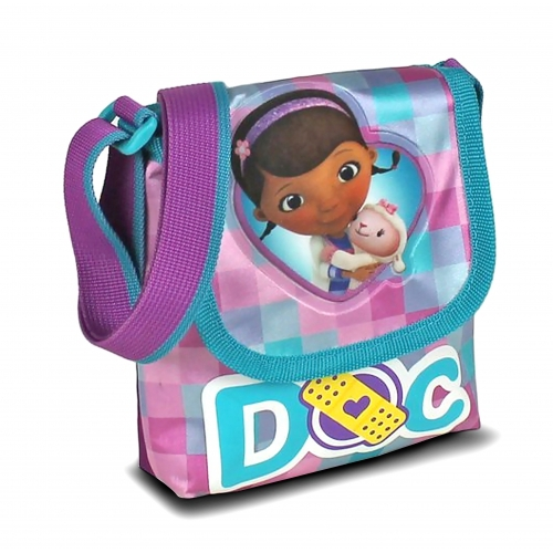 Disney Doc Mcstuffins Satin Small ' Lapel School Shoulder Bag