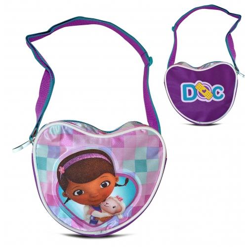 Disney Doc Mcstuffins Satin 'Heart Shaped' School Shoulder Bag