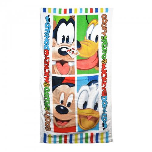 Disney Mickey Mouse 'Goofy, Pluto, & Donald' Printed Beach Towel