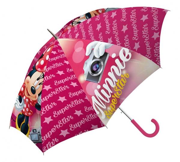 Disney Minnie Mouse Super Star School Rain Brolly Umbrella