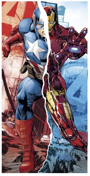 Avengers 'Captain America Iron Man' Boys Printed Beach Towel