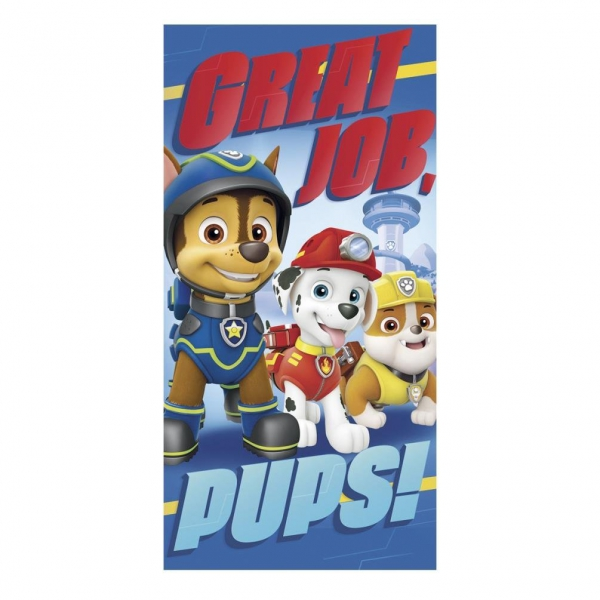 Paw Patrol 'Great Job Pups' Boys Printed Beach Towel