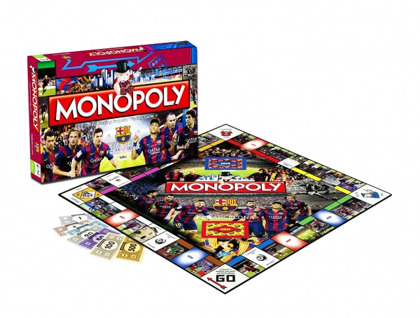 Barcelona Fc Monopoly Football Board Game Official