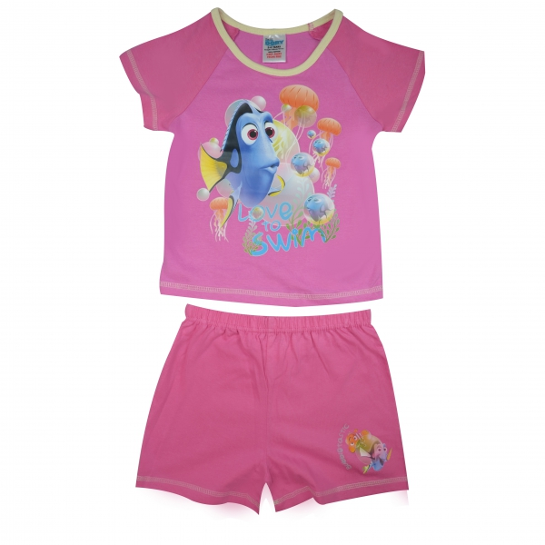 Disney Findng Dory 'Love To Swim' Short 3-4 Years Pyjama Set