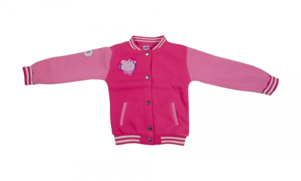 Peppa Pig Girls 18  Months - 7 Years 'Baseball Jacket' Jumper