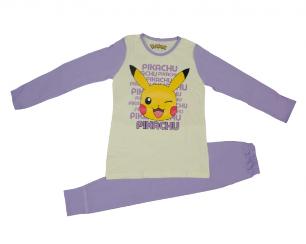 Pokemon Girls Purple PJ 4-10 Years Pyjama Set