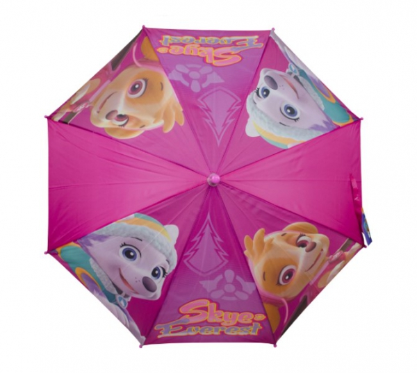Paw Patrol Girls 'Purple' Full Panel Automatic School Rain Brolly Umbrella