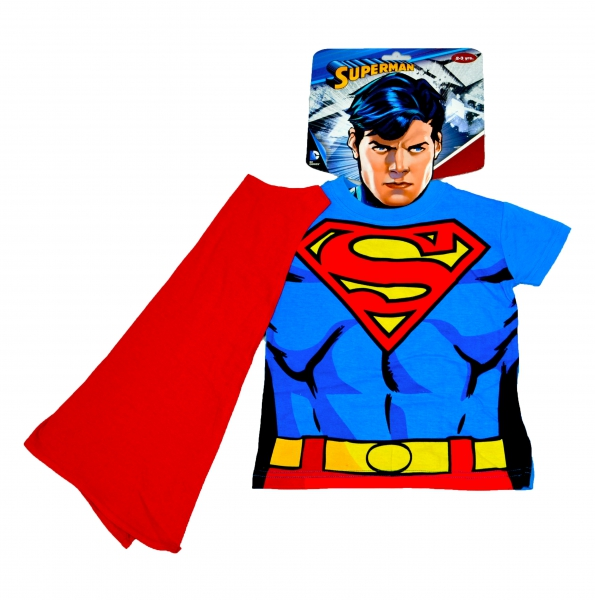 Superman 'Cape and Mask' Novelty T Shirt 4-5 Years