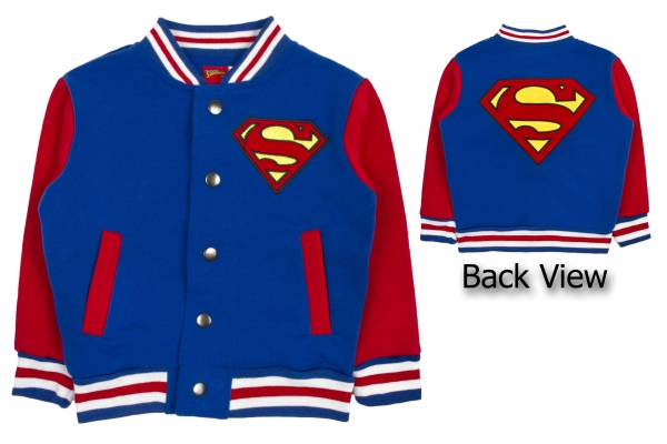 Superman 'Logo' Boys Baseball Jacket Jumper 2-3 Years