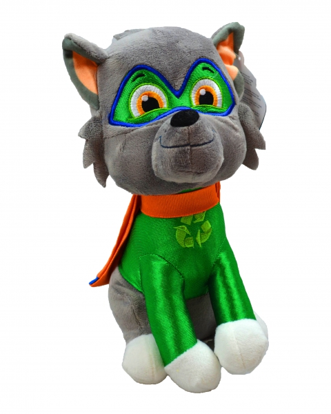 Paw Patrol Superheroes 'Rocky' 27cm Sitting Plush Soft Toy