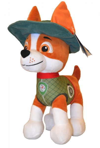 Paw Patrol Jungle Rescue 'Tracker' 27cm Plush Soft Toy