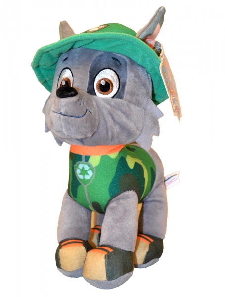 Paw Patrol Jungle Rescue 'Rocky' 27cm Plush Soft Toy