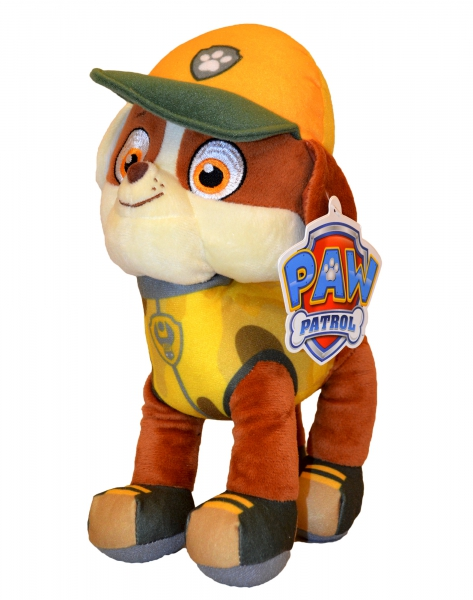 Paw Patrol Jungle Rescue 'Rubble' 27cm Plush Soft Toy
