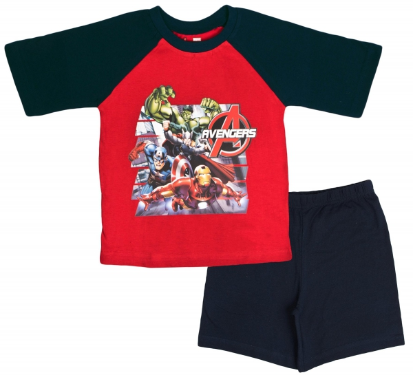 Avengers 'Action' Boys Short Pyjama Set 9-10 Years