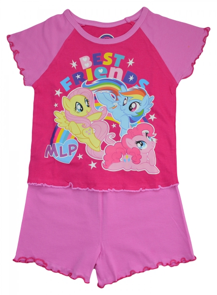 My Little Pony 'Best Friends' Girls Short Pyjama Set 2-3 Years