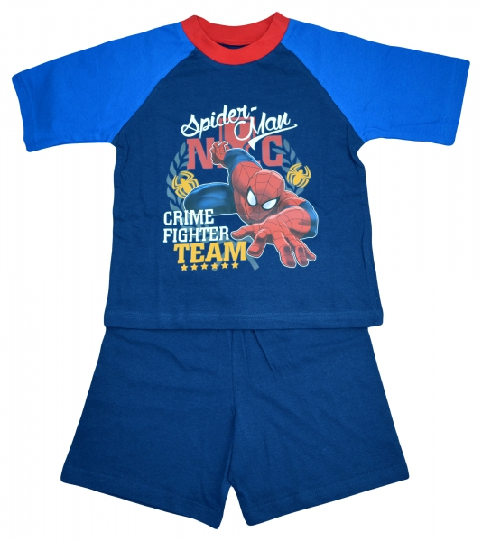 Spiderman 'Crime Fighter' Boys Short Pyjama Set 5-6 Years