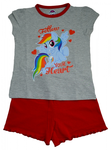 My Little Pony 'Follow Your Heart' Girls Short Pyjama Set 5-6 Years