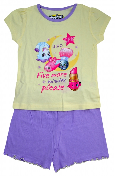 Shopkins 'Please' Girls Short Pyjama Set 7-8 Years