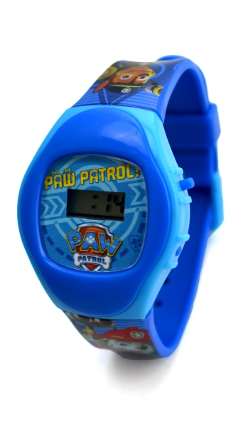 Paw Patrol 'Chase & Marshall' Boys Digital Metal Tin Gift Wrist Watch