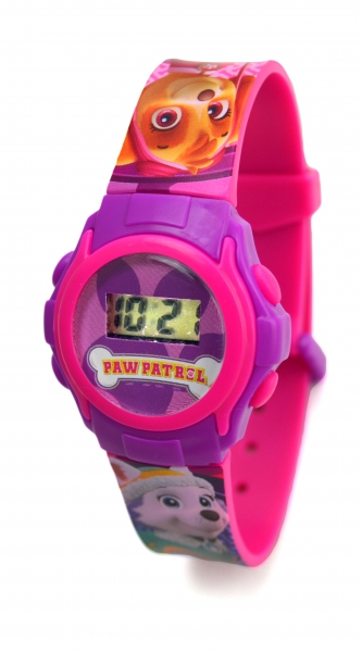 Paw Patrol 'Skye & Everest' Girls Digital Metal Tin Gift Wrist Watch