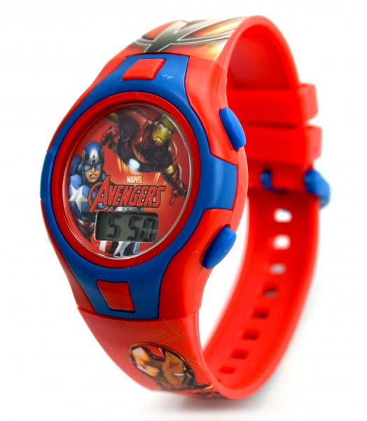 Avengers 'Force' Boys Digital Metal Tin Gift Wrist Watch