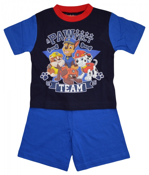 Paw Patrol 'a Pawfect Team' Boys Short Pyjama Set 2-3 Years