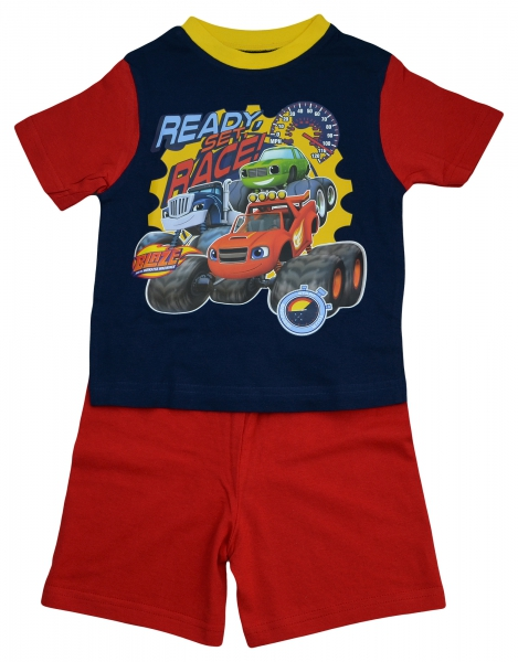Blaze 'Race' Boys Short Pyjama Set 12-18 Months
