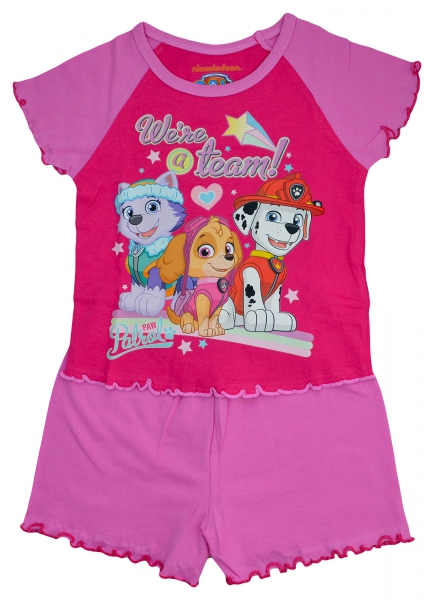 Paw Patrol 'Team' Girls Short Pyjama Set 3-4 Years