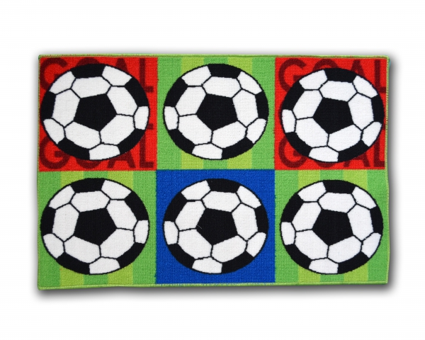 Designer Mat 'Football' Kids Fc Rug