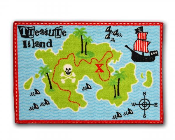 Designer Mat 'Treasure Island' Kids Rug
