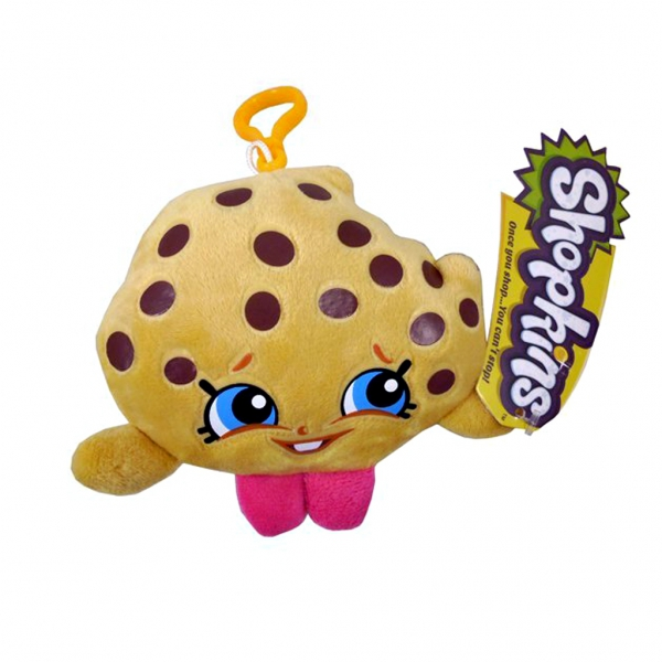 Shopkins 'Kooky Cookie' Hanging Plush Backpack Clip School Bag Rucksack