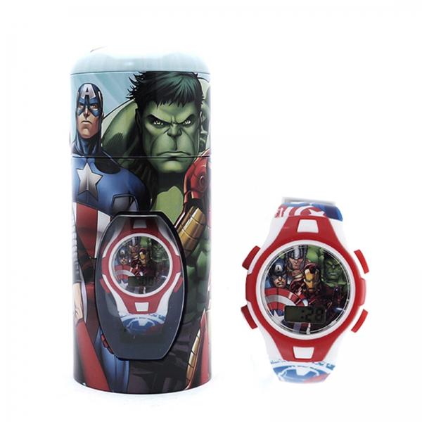 Avengers 'Heroes' Digital Gift Metal Tin Wrist Watch