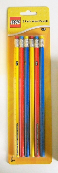 Lego 'Classic' 6 Pack Graphite Pencil Stationery