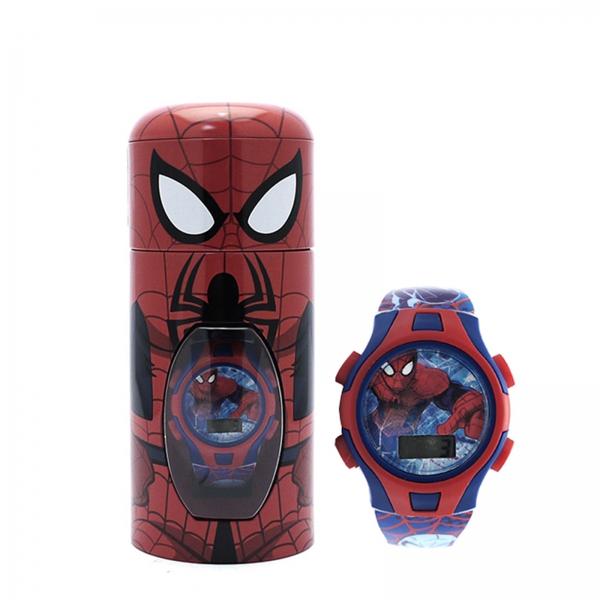 Spiderman 'Swing' Digital Gift Metal Tin Wrist Watch