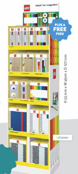 Lego Filled Stationery 'Fsdu' Floor Display Unit