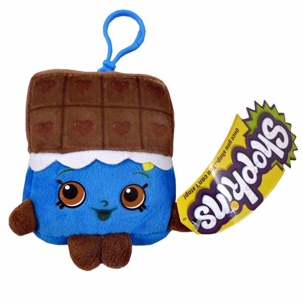 Shopkins 'Cheeky Chocolate' Hanging Plush Backpack Clip School Bag Rucksack