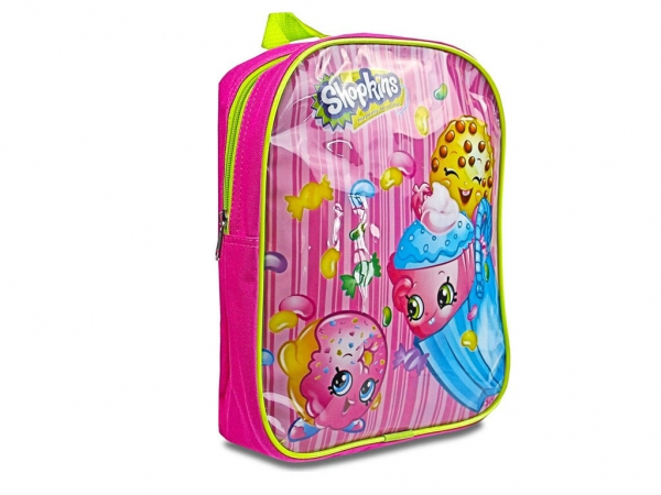 Shopkins 'Pink' Pvc Front School Bag Rucksack Backpack