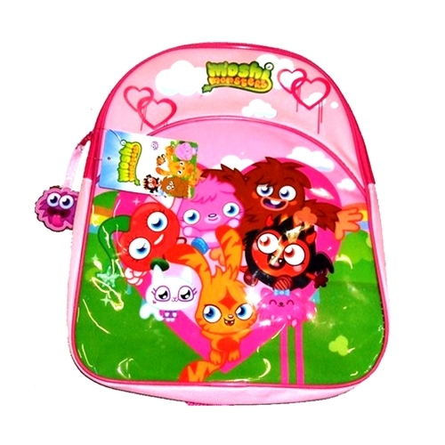 Moshi Monsters Pink Junior School Bag Rucksack Backpack