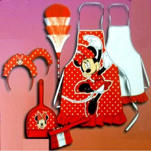 Disney Minnie Mouse 'Red' Cleaning Set Costume